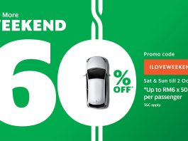 GrabCar coupon code weekend ride