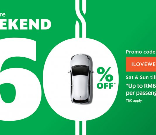 GrabCar coupon code weekend ride