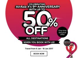 AirAsia X Anniversary promotion