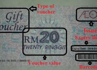 Gift voucher AEON Malaysia