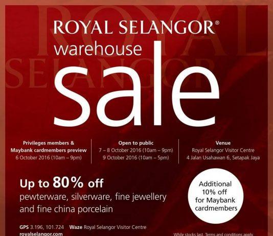 Royal Selangor Warehouse Sale on Oct 2016