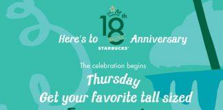 Starbucks Anniversary Promotion 2016