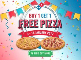 Domino's Pizza Buy 1 Get 1 Free Promotion