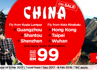 Airasia China Air Ticket Promotion 2017