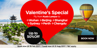 AirAsia air ticket promo Valentine Day Special 2017