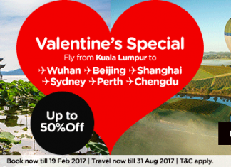 AirAsia air ticket promo Valentine Day Special 2017