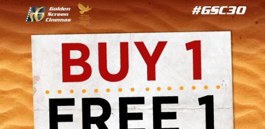 Golden Screen Cinemas Kung Fu Yoga movie ticket Buy 1 Free 1 promotion