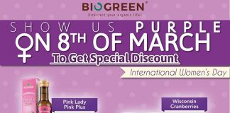BioGreen International Women's Day 2017 Promotion