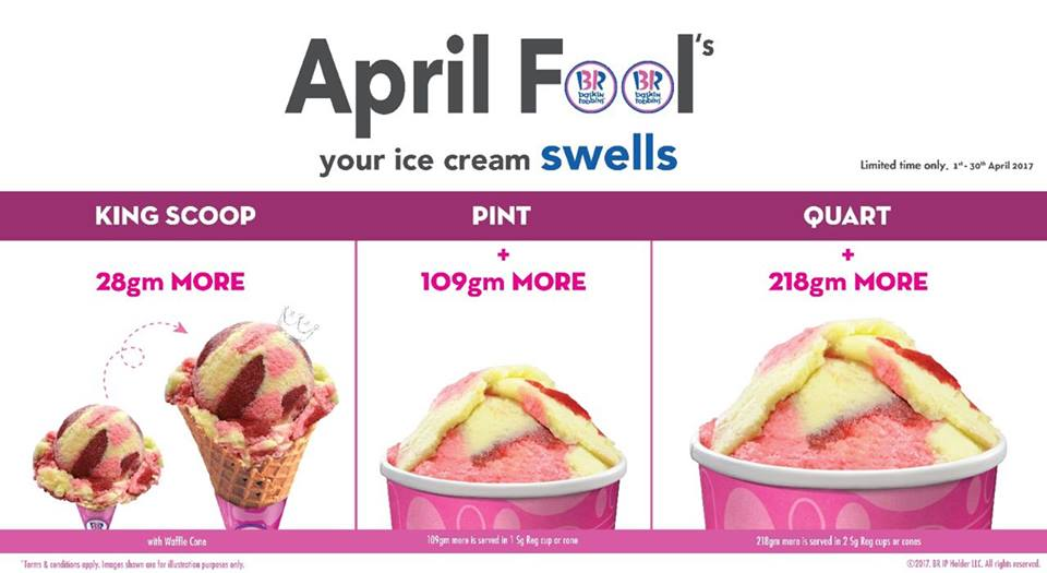 Baskin Robbins Ice Cream April Fool's Promotion