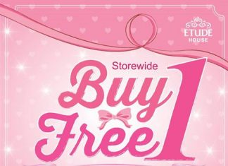 Etude House Promotion April 2017 Buy 1 Free 1