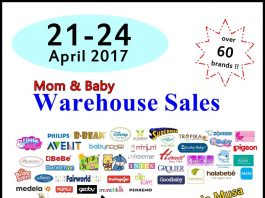 Mom & Baby Warehouse Sales April 2017