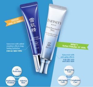 Sekkisei White UV Emulsion and KOSE Infinity Perfect Protection UV White Sample Giveaway