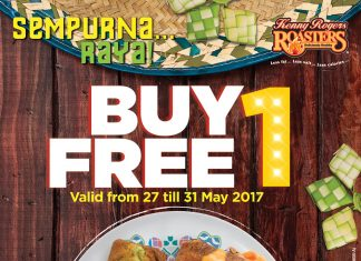Kenny Rogers ROASTERS Buy 1 Free 1 Promotion May 2017