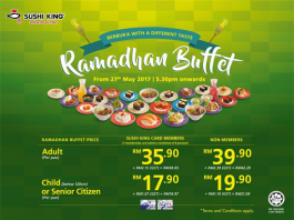 Sushi King Ramadhan Buffet Promotion May - June 2017