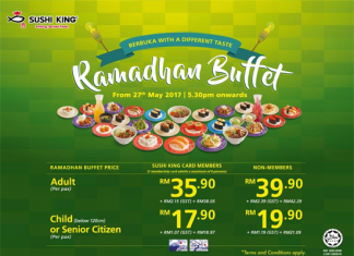Sushi King Ramadhan Buffet Promotion May - June 2017