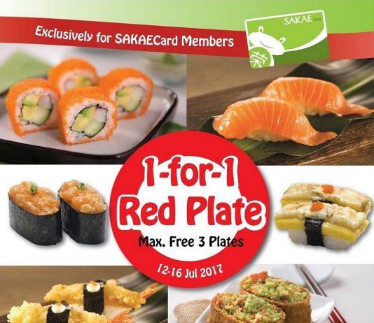 Sakae Sushi Promotion Red Plate Buy 1 Free 1 Deal