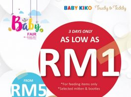 Kiko & Baby Kiko Baby Fair Promotion August 2017