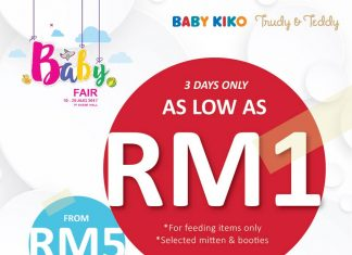 Kiko & Baby Kiko Baby Fair Promotion August 2017