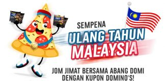 Domino's Malaysia Merdeka Day Domino's Coupon Promotion 2017