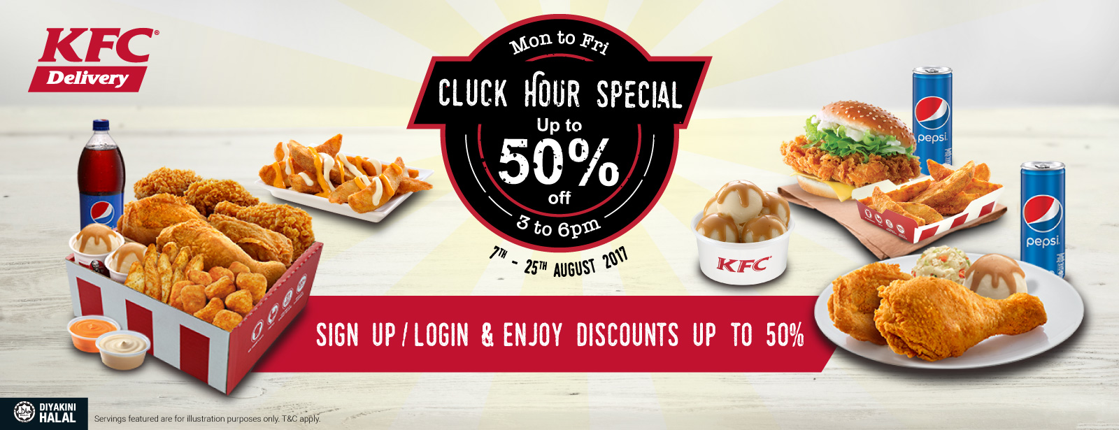 Kfc Malaysia Delivery Promotion Cluck Hour Special August 2017