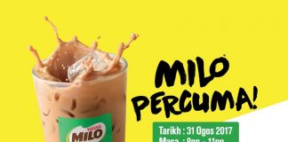 McDonald's Malaysia freebies 2017 Merdeka Deal