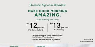 Starbucks Malaysia Breakfast Promotion 2017