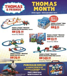 Toys R Us Malaysia Thomas & Friends promotion August 2017