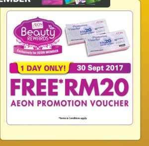 AEON Malaysia Promotion 2017 Great Friday Sale RM20 AEON Promotion Voucher