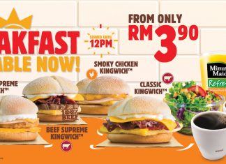 Burger King Malaysia Breakfast Promotion 2017