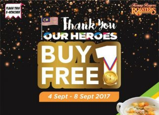 Kenny Rogers ROASTERS Malaysia Promotion Buy 1 Free 1 Deal