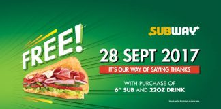 Subway Malaysia promotion 2017