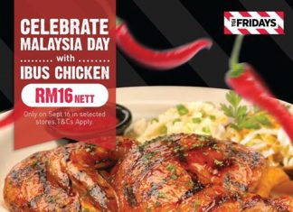 TGI Fridays Promotion 2017 Malaysia Day Deals