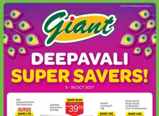 Giant Malaysia Promotion October 2017 Deepavali Super Savers