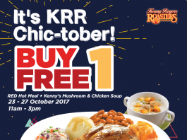 Kenny Rogers ROASTERS Promotion October 2017 Chic-tober Buy1 Free 1 Deals