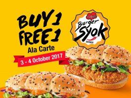 McDonald's Malaysia Promotion October 2017 Burger Syok Buy 1 Free 1 Deal