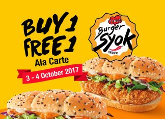 McDonald's Malaysia Promotion October 2017 Burger Syok Buy 1 Free 1 Deal