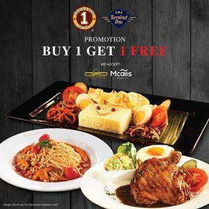 Station One Cafe Promotion October 2017 Buy 1 Free 1 Deal