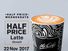 McDonald's Malaysia McCafe Half Price Promotion November 2017