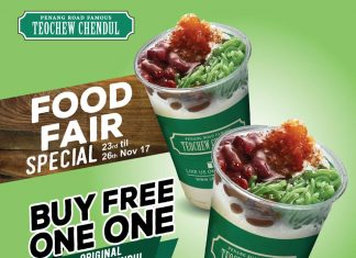 Penang Road Famous Teochew Chendul Promotion November 2017 Buy 1 Free 1 Deal