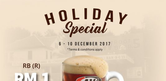 A&W Malaysia Promotion December 2017