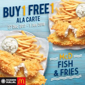 McDonald's Malaysia Promotion Buy 1 Free 1 Deals