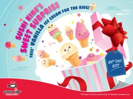 Sushi King Malaysia Free Vanilla Ice Cream Giveaway December 2017