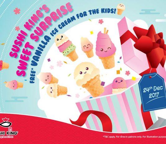Sushi King Malaysia Free Vanilla Ice Cream Giveaway December 2017