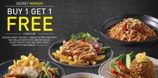 Secret Recipe Malaysia Promotion January 2018 Buy 1 Free 1 Deal