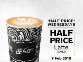 McCafe Half Price Promotion February 2018