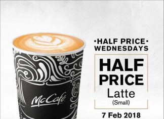McCafe Half Price Promotion February 2018