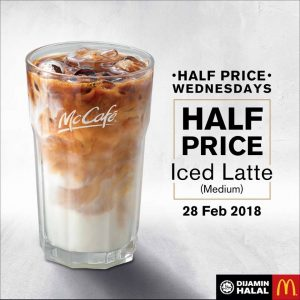 McCafe Half Price Promotion Feb 2018