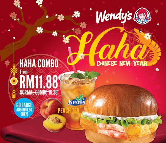 Wendy's Malaysia Promotion 2018 Chinese New Year Deals