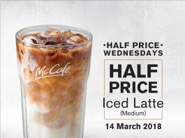 McDonald's McCafe Promotion Half Price Wednesday