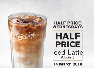 McDonald's McCafe Promotion Half Price Wednesday